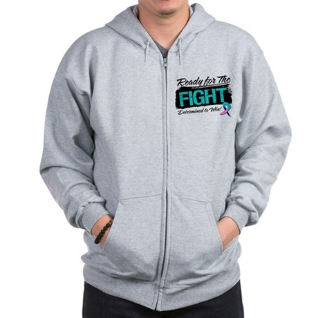 Ready Fight Thyroid Cancer Zip Hoodie