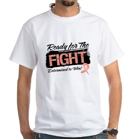 Ready Fight Uterine Cancer White T-Shirt