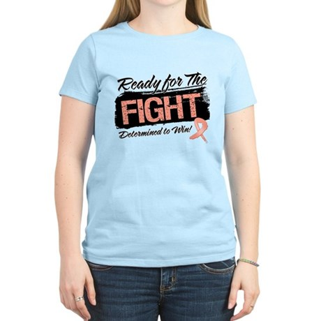 Ready Fight Uterine Cancer Women's Light T-Shirt