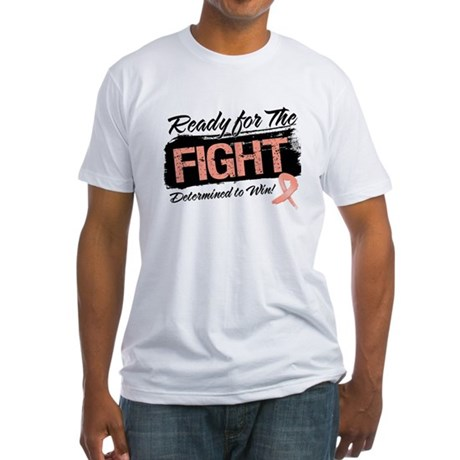 Ready Fight Uterine Cancer Fitted T-Shirt