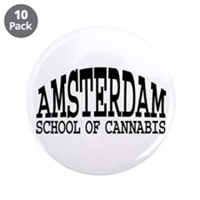 "Amsterdam School Of Cannabis 3.5"" Button (10 pack)"