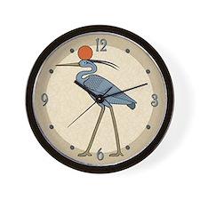 Sun Disc Benu Wall Clock
