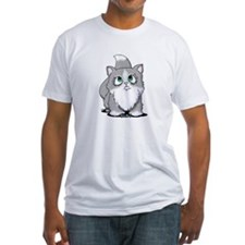 Gray & White Cutie Cat Shirt