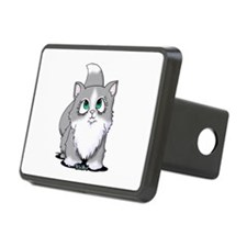Gray & White Cutie Cat Hitch Cover