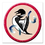 Loon Square Car Magnet 3