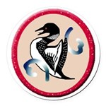 Loon Round Car Magnet