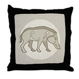 Pictish Boar Throw Pillow