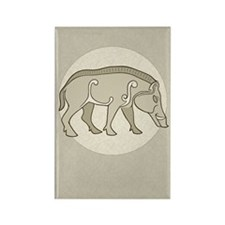 Pictish Boar Rectangle Magnet (10 pack)