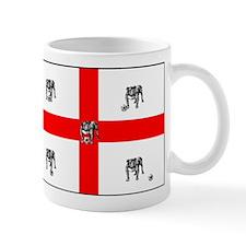 English Bulldog Football Flag Mug