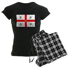 English Bulldog Football Flag Pajamas