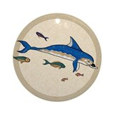 Knossos Dolphin Ornament (Round)
