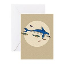 Knossos Dolphin Greeting Cards (Pk of 10)