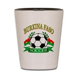 Burkina Faso Football Shot Glass