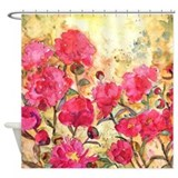 Pink Peonies Bathroom Shower Curtain
