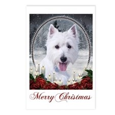 Westie Xmas Postcards (Package of 8)