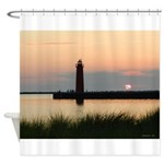 .Muskegon Breakwater Light. Shower Curtain
