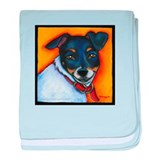 "Rat Terrier ""Macy"" baby blanket"