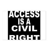 ACCESS IS A CIVIL RIGHT Postcards (Package of 8)
