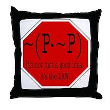 P not P Throw Pillow