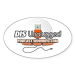 DIS Unplugged Oval Sticker