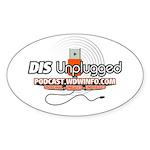 DIS Unplugged Oval Sticker