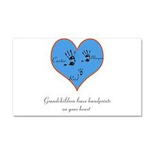 Personalized handprints Car Magnet 20 x 12