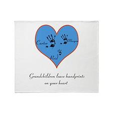 Personalized handprints Throw Blanket