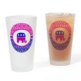 Damask Republican Clothing Drinking Glass