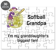 Personalized Softball Grandpa Puzzle
