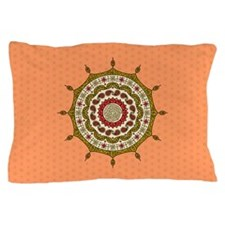 Mehndi Fantasy Gold Pillow Case