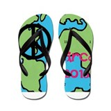 Peace circa 2013 Clock Face Flip Flops