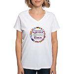 ISRM Ring Logo Women's V-Neck T-Shirt