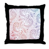 Paisley Dance Throw Pillow - Multi Color