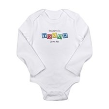 Funny State texas Long Sleeve Infant Bodysuit