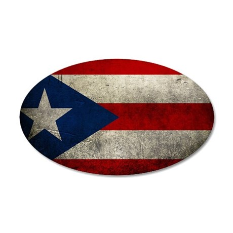 Puerto Rico 35x21 Oval Wall Decal