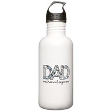 Father's Day. Dad mechanical engineer Water Bottle