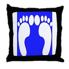 ff foot blue.PNG Throw Pillow