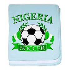 Nigeria Football baby blanket