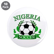 "Nigeria Football 3.5"" Button (10 pack)"