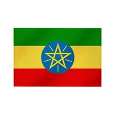 Ethiopian Flag Rectangle Magnet