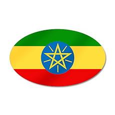 Ethiopian Flag 20x12 Oval Wall Decal
