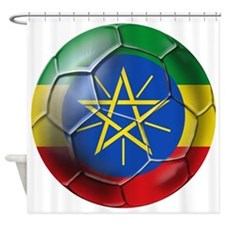 Ethiopia Football Shower Curtain