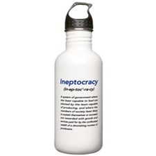 Meaning of Ineptocracy Water Bottle