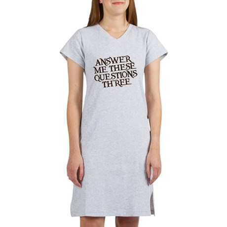 questions three Women's Nightshirt