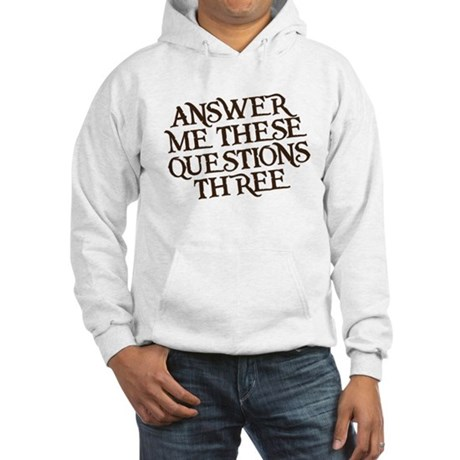 questions three Hooded Sweatshirt