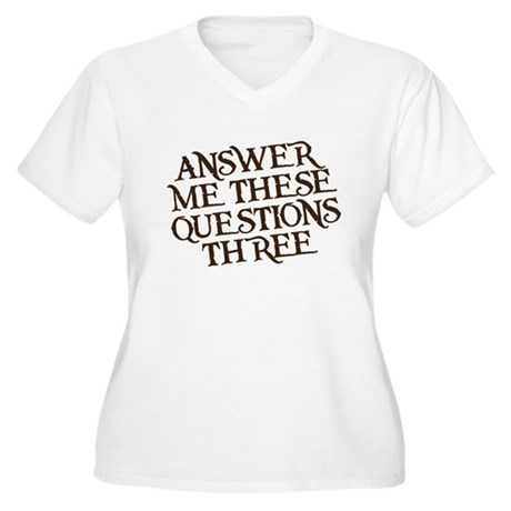 questions three Women's Plus Size V-Neck T-Shirt