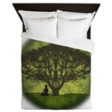 Buddha Under the Bodhi Tree Queen Duvet