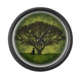 Buddha Under the Bodhi Tree Large Wall Clock