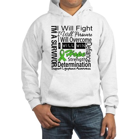 Lymphoma Persevere Hooded Sweatshirt