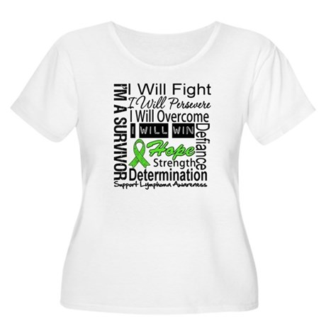 Lymphoma Persevere Women's Plus Size Scoop Neck T-